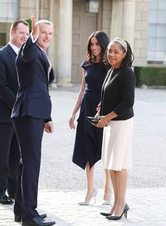 Meghan Markle Arrives at Hotel with Mom and Says She's Feeling 'Wonderful' on Royal Wedding Eve