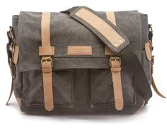 Amazon.com: Sweetbriar Classic Laptop Messenger Bag, Gray - Canvas Pack Designed to Protect Laptops up to 15.6 Inches: Clothing
