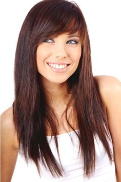 Long Hair With Side Bangs And Layers