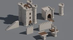 Image result for low poly castle
