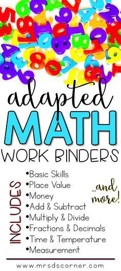 Math Adapted Work Binder BUNDLE - Standards Aligned (for Special ...