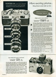 Vintage camera catalog