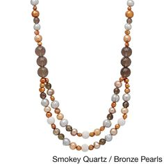 Pearl Lustre Genuine Cultured Pearls and Gemstone Necklace (