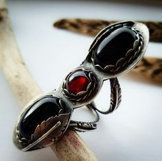 Go and visit the Sales section for this Black Onyx and Red Garnet Three Stone Ring and find many other boho inspired pieces to boot.