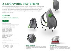A backpack designed to hold that annoying bike helmet. Trés Chic. https://www.evernote.com/market/feature/rucksack?sku=BAGS00103