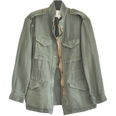 Nili Lotan Army Green Cargo Jacket (€505) ❤ liked on Polyvore featuring outerwear, jackets, tops, coats, green camo jacket, olive cargo jacket, cargo jackets, army green cargo jacket and olive green cargo jacket