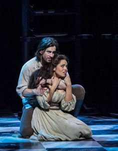 THE HUNCHBACK OF NOTRE DAME at Paper Mill Playhouse Photos by Jerry Dalia -- Ciara Renée as Esmeralda and Andrew Samonsky as Captain Phoebus de Martin