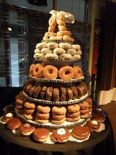 wedding doughnut cake   Doughnut wedding cake   doughnuts