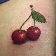small cherry tattoo