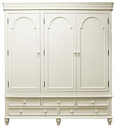 Ultimum Chateau Off White Five Drawer Triple Wardrobe Triple Wardrobe, Large Wardrobes, Closets, Armoire, Off White, Drawers, Amazon, Modern, Stuff To Buy