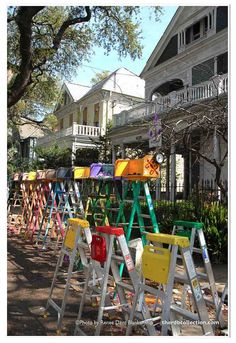 Mardi Gras Ladders Photo - New Orleans Photography - Mardi Gras Wall Art - Mardi Gras Photography - Parade Ladders Photo