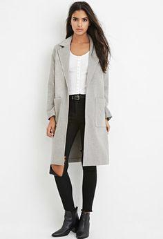 Longline Wool-Blend Coat | Forever 21 - 2000174618