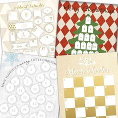 DIY Christmas Advent Calendar with all styles all available at a click of a finger.