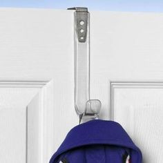 """Spectrum 64050 Single Over the Door Hook by Spectrum. $7.99. Adjusts to 2 1/8"""" wideSize: 7 1/2tall x 3wide x 3 5/8deep. Durable plastic construction. No tool over the door installation. Fits doors or cubicle walls 1.4""""-2.25"""" thick."""