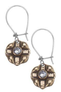 Stamped Cross Earrings by Waxing Poetic on @HauteLook