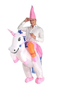 Inflatable Costume Air Blown Donkey Rider Halloween Cosplay Fancy Dress