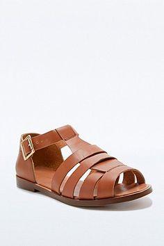 Deena & Ozzy Joni T-Bar Sandals in Tan - Urban Outfitters
