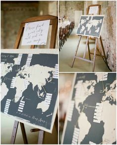 Seating Chart, Map of world, Guests seating plan, Wedding