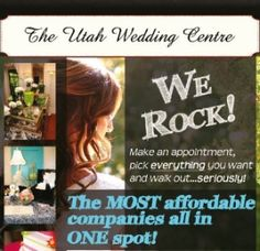 The Utah Wedding Centre - The most affordable Utah wedding companies .... in one place!!  Plan your entire wedding in one stop AND have it cost less than DIY.