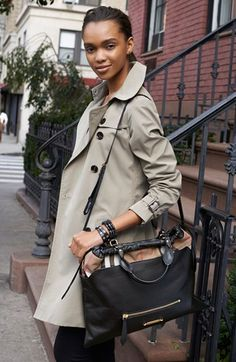 Burberry Bag, Burberry London Trench & Burberry Brit Tee, Pants  available at #Nordstrom