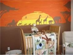 lion king theme nursery! should I ever be blessed with a son, this will def be what the nursery looks like!