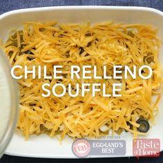 talk about YUM! Courtesy of Taste of Home Best Chili Relleno Recipe, Stuffed Chili Relleno Recipe, Chili Relleno Casserole, Breakfast Specials, Breakfast Time, Mexican Food Recipes, Vegetarian Recipes, Cooking Recipes, Bread Recipes