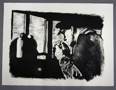 """""""Pause"""" Lithography print by Marius Johnsen"""
