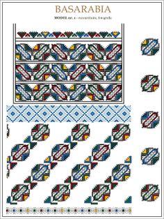 Semne Cusute: iie din BASARABIA - desen dupa fotografie (1) Folk Embroidery, Embroidery Patterns, Cross Stitch Patterns, Knitting Patterns, Beading Patterns, Blackwork, Pixel Art, Kids Rugs, Quilts