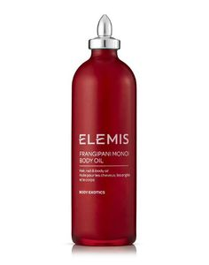 Frangipani Monoi Body Oil Hair, nail and body oil BENEFITS: Nourishes, Conditions, Softens This truly exotic oil is rapidly absorbed providing superior moisturisation for dry, parched or mature skin. From ELEMIS