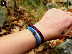 Micromacrame bracelets, set of 2 macrame bracelets, his and hers bracelet, bracelet for couples, macrame jewelry set, macrame bracelet pair by TheTomentosaShop on Etsy