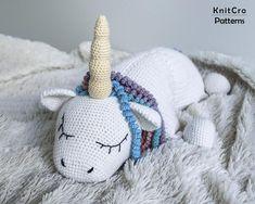 Crochet Rainbow Unicorn Pillow Pattern PDF Crochet Interior | Etsy Crochet Gifts, Crochet Toys, Unicorn Pillow, Photo Pattern, Handmade Baby Quilts, Rainbow Unicorn, Toy Unicorn, Crochet Unicorn, Crochet Pillow