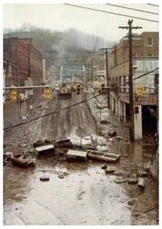 Williamson, WV-1977 flood-Harvey Street Bridge looking toward Kentucky--COMCWV-TEK