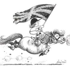Thelwell...loved these horse cartoons...