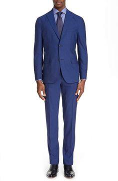 a154f2c1 Boglioli Fresco Slim Fit Solid Wool Suit Modern Suits, Wool Suit, Fresco,  Dapper