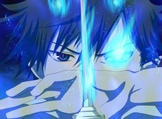 Rin Okumura - Ao no Exorcist / Blue Exorcist... I love the little bit of red in his eyes