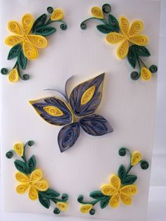 Handmade Gifts - Quilling Art: - Flowers and - Quilled Paper Art Neli Quilling, Quilling Images, Quilling Butterfly, Paper Quilling Cards, Paper Quilling Tutorial, Paper Quilling Flowers, Paper Quilling Patterns, Quilled Paper Art, Quilling Craft