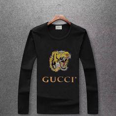 cheap Gucci long-sleeve T-shirts for men Gucci T Shirt Mens, Cheap Gucci, Gucci Outfits, Designer Clothes For Men, Men Fashion, Jr, Menswear, Sweatshirts, Long Sleeve