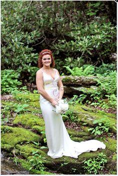 Lush green moss flowing stream wedding Blowing Rock NC Blowing Rock North Carolina, Blowing Rock Nc, Rustic Wedding, Our Wedding, Lush Green, Wedding Dresses, Fashion, Bride Dresses, Moda