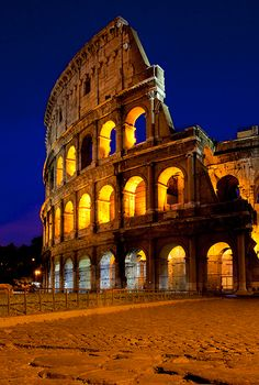 Dusk at the Roman Coliseum, Rome Italy. by Brian Jannsen