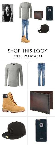 """Untitled #291"" by emmi-princess on Polyvore featuring Denham, Saks Fifth Avenue Collection, New Era, Moshi, Merrell, men's fashion and menswear"
