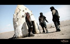 """Still from the postapocalyptic no budget film """"Nostromo"""", shot in Tunisia Sci Fi Films, Post Apocalypse, Filmmaking, Science Fiction, Mount Rushmore, Indie, Budget, Mountains, Travel"""