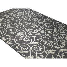 Karma Rug in Grey. 7.9 X 9.9. Wool & art silk. $419.95.