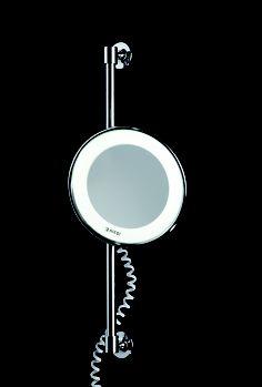 dimmbarer led kosmetikspiegel mit 5 fach vergr erung und normaler ansicht von nicol. Black Bedroom Furniture Sets. Home Design Ideas