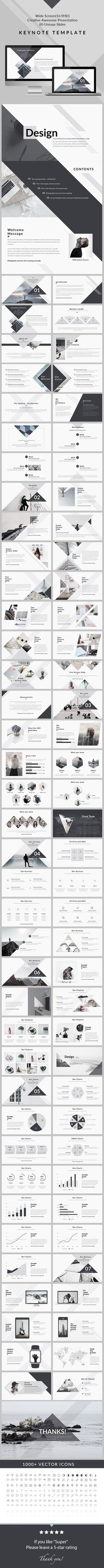 Design - Clean & Creative PowerPoint Presentation by General Description Screen Size 80 unique slides Free Font Used No Animation Template Creative Slides Clean style Business Sl Creative Powerpoint Presentations, Powerpoint Presentation Templates, Keynote Template, Graphisches Design, Slide Design, Layout Design, Clean Design, Creative Design, Keynote Presentation