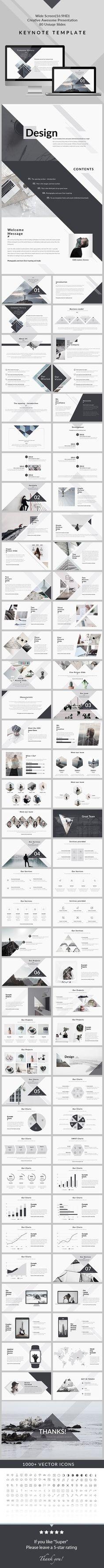 Design - Clean & Creative Keynote Template  #clean #profile #simple…