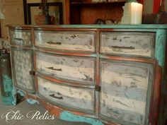 Specializing in hand painted furniture and unique industrial decor for the home. Painted China Cabinets, Painted Drawers, Hand Painted Furniture, Distressed Furniture, Woman Painting, Painting On Wood, Art Decor, Home Decor, Furniture Makeover