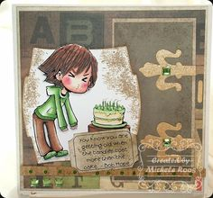 Blowing Candles Digital Stamp by Max for Spesch Designer Stamps