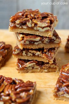 New Melt in You Mouth Gooey Goodness- Pecan Pie Bars Recipe ! From Your Cup of Cake