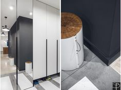 Located in Gdansk, Poland and completed in This apartment for single family with size 60 square meter was designed by Studio Potorska. Small Space Living, Small Spaces, Living Spaces, Entryway Closet, Sweet Home, Banksy, Street Art, House Design, Studio