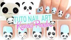Nail art ♡ Kawaii Panda